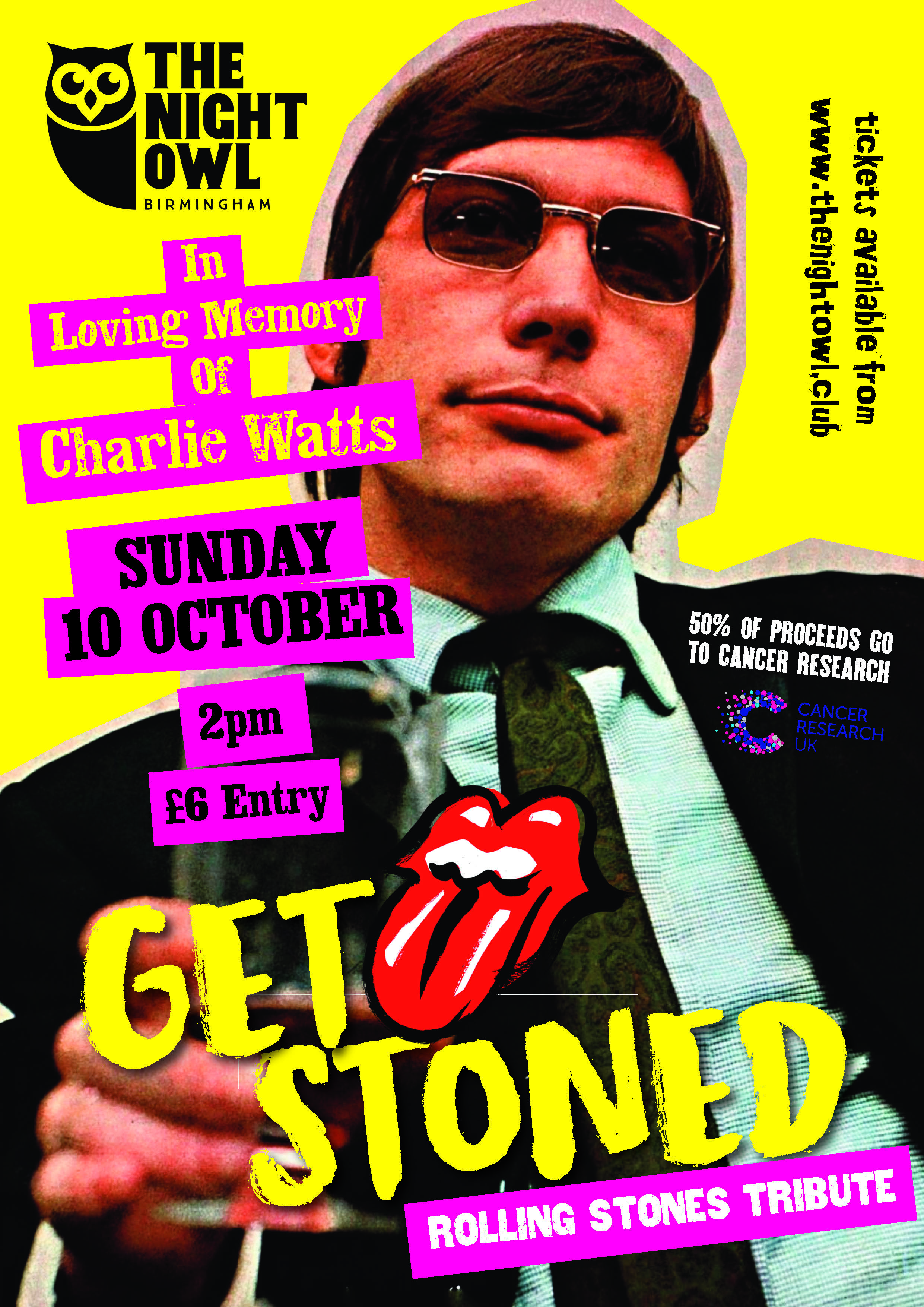 Get Stoned Gig Poster Night Owl163240189