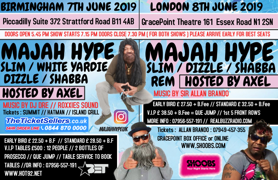 cfeddc05988c8 MAJAH HYPE WTF YUH FROM TOUR at Picadilly Banqueting Suite Tickets