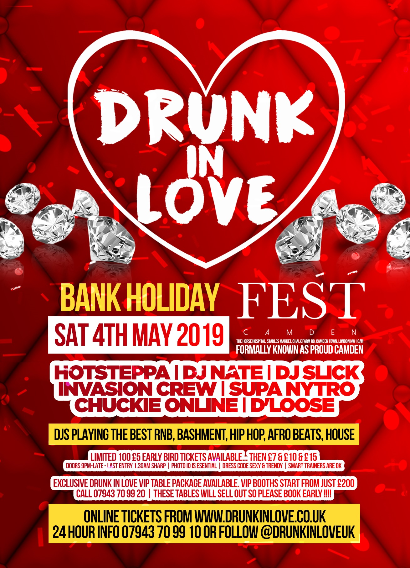 Drunk In Love at Fest Camden Tickets