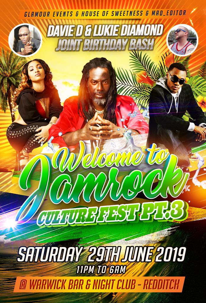 Welcome To JamRock Culture Fest Pt3 at Warwick Bar and Nightclub Tickets