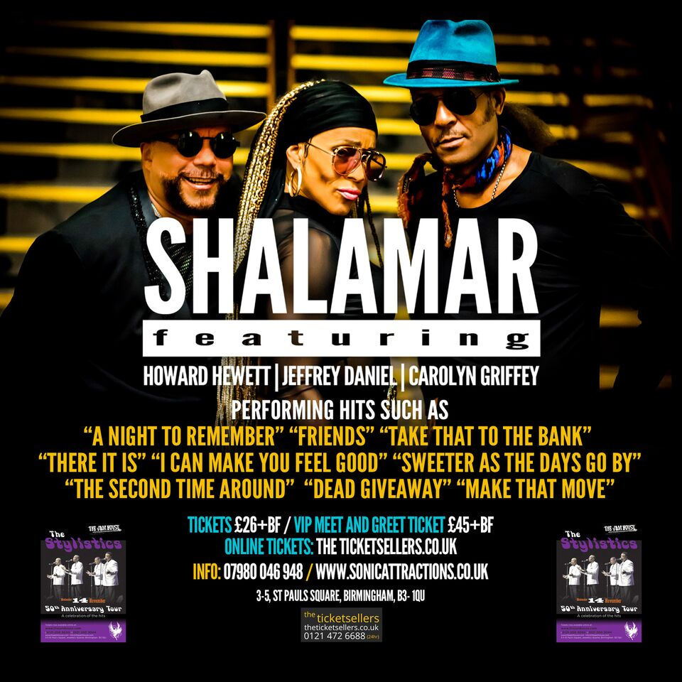Shalamar At The Jamhouse Tickets